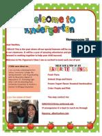 welcome letter handbook