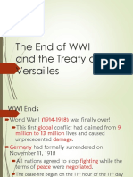 End of Wwi and Treaty of Versailles
