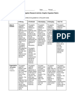 graphic organizer rubric