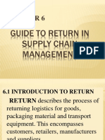 Guide to return in supply chain management