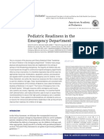 Pediatric Readiness in the Emergency Department