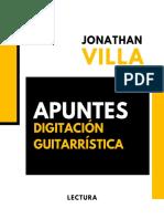 Apuntes digitación guitarristica