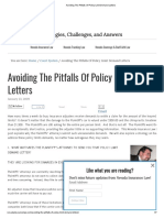 Avoiding the Pitfalls of Policy Limit Demand Letters