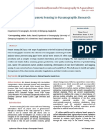 Applications of Remote Sensing in Oceanographic Research