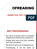Proofreading or Redrafting- LECT 20