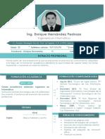 C.v. Ing. Enrique Hernández Pedroza