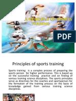 Principles of Sports Trainig