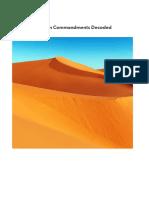 Ten Commandments Decoded