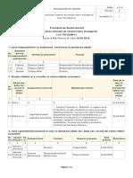 Procedura de Sistem Privind Desemnarea Comisiei de Control Intern Managerial