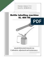 Neri SL400 Labeler Maintenance Manual