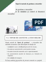 Tema 7. Organizarea Depozitelor in Cadrul Intreprinderilor , Gestiunea Stocurilor