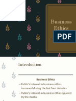 Lecture 8- Business Ethics