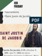 CL Lesson #2 Saint Justin de Jacobis