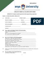 Medical Examination Form