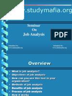 Job Analysis Ppt