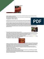 Tradiciones de La Cultura China