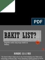GG Bakit List.