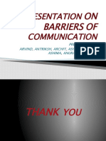 Presentation on Barriers of Communication