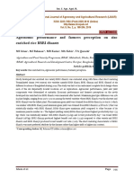 Agronomic performance and farmers perception on zinc enriched rice BRRI dhan62