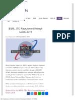 BSNL JTO Recruitment Through GATE 2019
