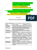 Portfólio Logistica 2 e 3 Temos a Pronta Entrega Whatsapp 91988309316