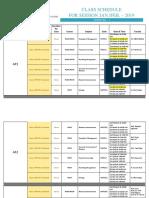 Class Schedule Sem 1