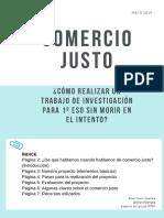 Proyecto Investigación Comercio justo