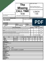 10 call sheet template