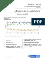 Boletín Tecnico Desempleo Marzo