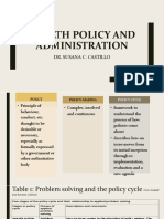 Health Policy and Administration