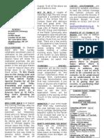 Newsletter of St Patrick