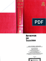 Reviewer on Taxation -Mamalateo 2014