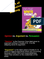 Argumentative Writing Ppt