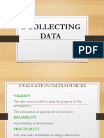 6. Collecting Data