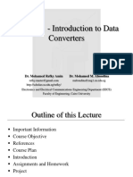 Lecture 1- Introduction to Data Converters