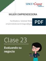 CLASE  23 MUJER EMPRENDEDORA PROGRAMA MAS CAPAZ