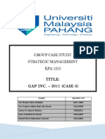 Case Analysis (Gap)
