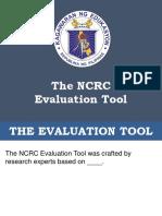 Ncrc Eval Tool