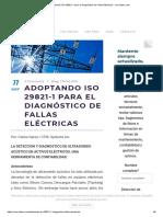 Adoptando ISO 29821-1 Para El Diagnóstico de Fallas Eléctricas - Cmc-latam.com
