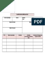 Modelo Planificación Curricular