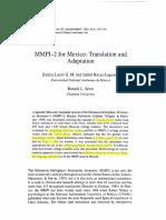 Adaptación MMPI2- México