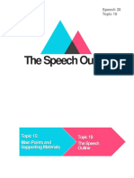 The Speech Outline
