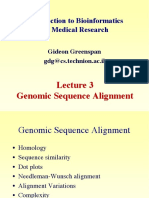 Genomic Sequence Alignment
