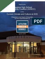 Arapahoe High School Community Coalition Report