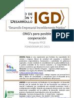 ONG's de Cooperación en Cajamarca - Información 2016