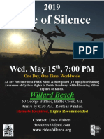 2019 Ride of Silence Poster