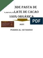 Se Vende Pasta de Chocolate de Cacao 100