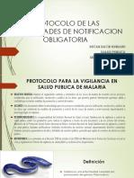 Protocolo de Las Enfermedades de Notificacion Obligatoria