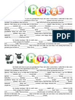 Text Plural of Nouns Reading Comprehension Exercises 92555