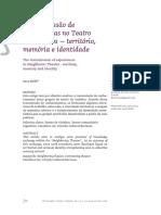 Teatro de Vizinhos, transmissão de experiências. Unicamp, revista Conceição